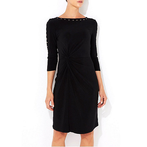 Wallis - Black studded sleeve dress