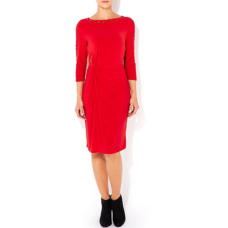 Wallis - Red studded sleeve dress