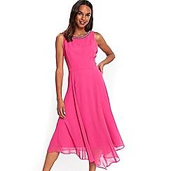 Wallis - Pink embellished asymmetric dress