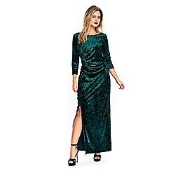 Wallis - Green velvet maxi dress