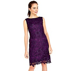 Wallis - Purple crochet lace dress