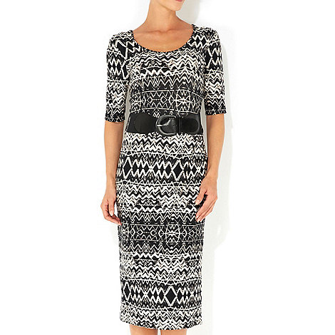 Wallis - Ethnic belted midi dress