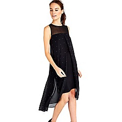 Wallis - Black hotfix overlayer dress