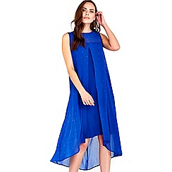 Wallis - Blue embellished overlayer dress