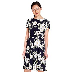 Wallis - Floral tie side fit and flare dress