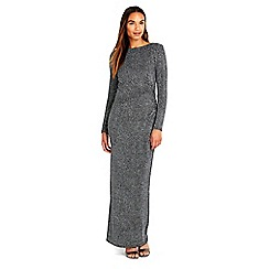 Wallis - Silver sparkle long sleeve dress