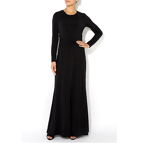 Wallis - Black long sleeve maxi dress