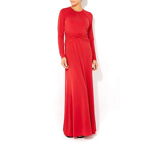 Wallis - Red long sleeve maxi dress