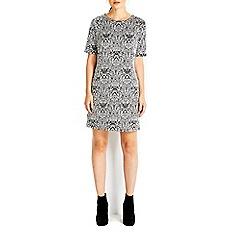 Wallis - Monochrome paisley jacquard dress