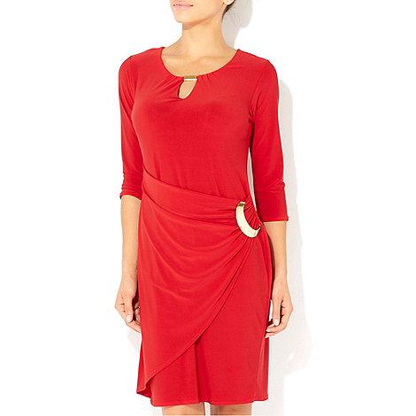 Wallis - Red ring 3/4 sleeve dress