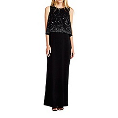 Wallis - Black hotfix layer maxi dress
