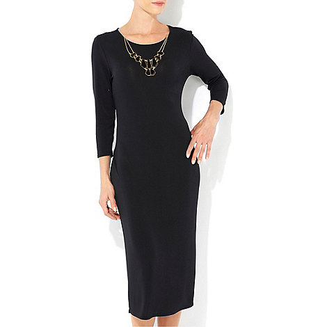 Wallis - Black necklace midi dress