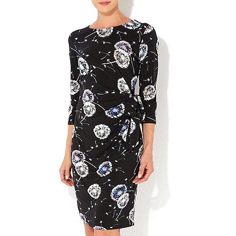 Wallis - Dandelion printed tie side dress