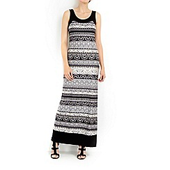 Wallis - Blue blocked ethnic maxi dress