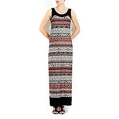 Wallis - Orange blocked ethnic maxi dress