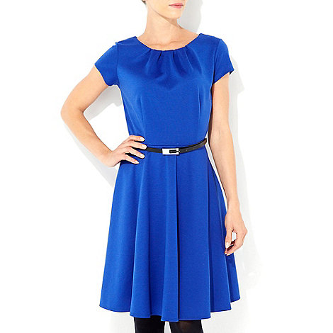 Wallis - Blue fit and flare dress