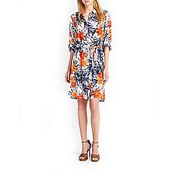 Wallis - Tropical print shirt dress