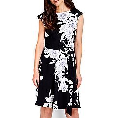 Wallis - Monochrome floral print dress