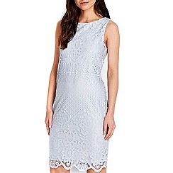 Wallis - Grey lace shift dress