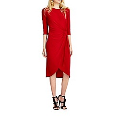 Wallis - Red knot wrap dress