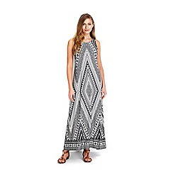 Wallis - Monochrome printed maxi dress