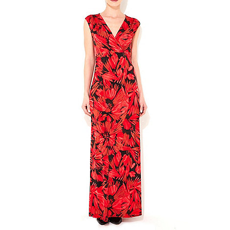 Wallis - Red floral maxi dress