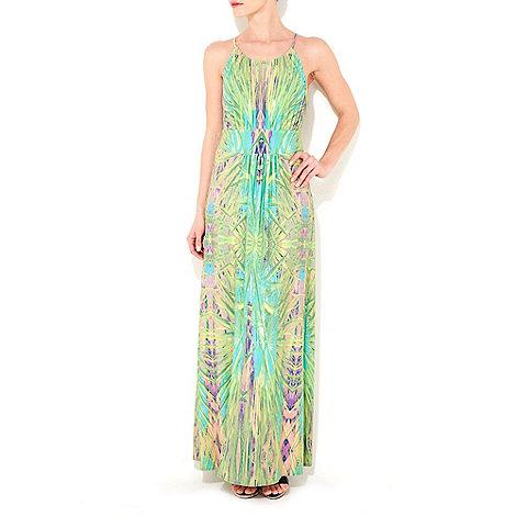 Wallis - Green leaf print maxi dress