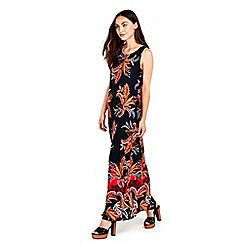 Wallis - Black stretch printed tunic  dress