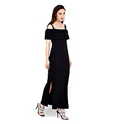 Wallis - Plain black maxi dress