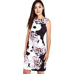 Wallis - Monochrome floral printed dress