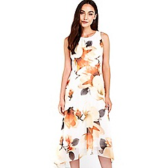 Wallis - Orange floral printed dress