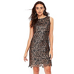 Wallis - Black crochet lace shift dress
