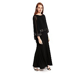 Wallis - Black sequin overlayer maxi dress