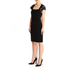 Wallis - Black lace top shutter dress