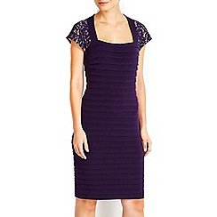 Wallis - Purple lace top shutter dress