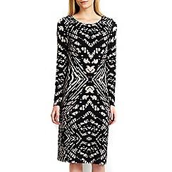 Wallis - Monochrome tribal midi dress