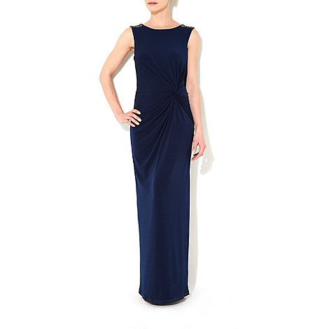 Wallis - Navy blue embellished dress