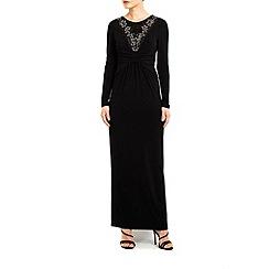 Wallis - Long sleeved embellished maxi dress