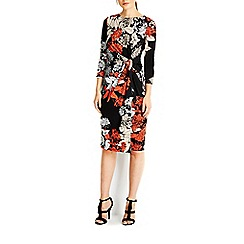 Wallis - Black oriental knot dress