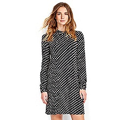 Wallis - Spot collar swing dress