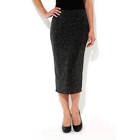 Wallis - Black midi skirt