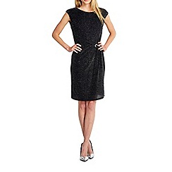 Wallis - Black side trim sparkle dress