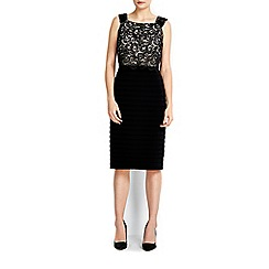 Wallis - Black lace top shutter dress