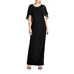 Wallis - Black cape sleeve maxi dress