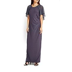 Wallis - Grey cape sleeve maxi dress