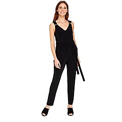 Wallis - Black long sleeve jumpsuit