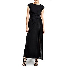 Wallis - Black pleat maxi dress