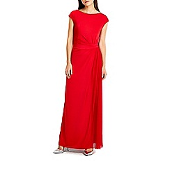 Wallis - Red pleat maxi dress