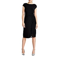 Wallis - Black pleat insert shift dress