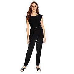 Wallis - Black metal ring jumpsuit